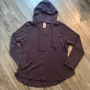 Faded Glory ribbed lightweight pullover hoody